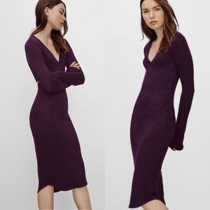 Aritzia Wilfred Free Lisiere Midi Dress Purple XS